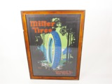 1920S MILLER TIRES FILLING STATION CARDBOARD DISPLAY