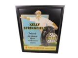 1930S KELLY SPRINGFIELD TIRES AUTOMOTIVE GARAGE DISPLAY CARDBOARD SIGN