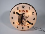 CIRCA 1950S FISK TIRES LIGHT-UP AUTOMOTIVE GARAGE CLOCK