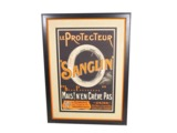 CIRCA 1920S SANGLIN LE PROTECTEUR TIRES AUTOMOTIVE GARAGE POSTER