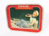1940 COCA-COLA METAL DINER SERVING TRAY