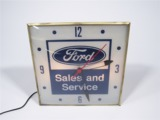 LATE 50S-EARLY 60S FORD SALES AND SERVICE LIGHT-UP STATION CLOCK