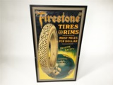 1920S FIRESTONE TIRES AND RIMS AUTOMOTIVE GARAGE POSTER