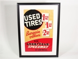 1930S GOODYEAR TIRES AUTOMOTIVE GARAGE DISPLAY POSTER