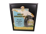 1930S KELLY SPRINGFIELD TIRES AUTOMOTIVE GARAGE DISPLAY CARDBOARD SIGN