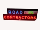 1950S ROAD CONTRACTORS NEON PORCELAIN SIGN