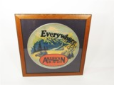1920S AMERICAN AKRON TIRES AUTOMOTIVE GARAGE DISPLAY CARDBOARD