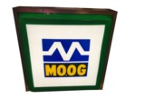 ADDENDUM ITEM - MOOG SUSPENSION PARTS SINGLE-SIDED LIGHT-UP GARAGE SIGN. LIGHTS PERFECTLY!.