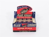 1940S BLUE CROWN HUSKY SPARK PLUGS AUTOMOTIVE GARAGE DISPLAY BOX