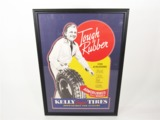 1936 KELLY SPRINGFIELD TIRES SERVICE STATION DISPLAY POSTER