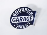 CIRCA LATE 1920S-EARLY 1930S GOODRICH TIRES GARAGE PORCELAIN FLANGE SIGN