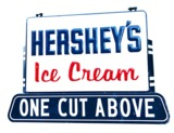 CIRCA 1940S-50S HERSHEYS ICE CREAM TIN FOUNTAIN SIGN