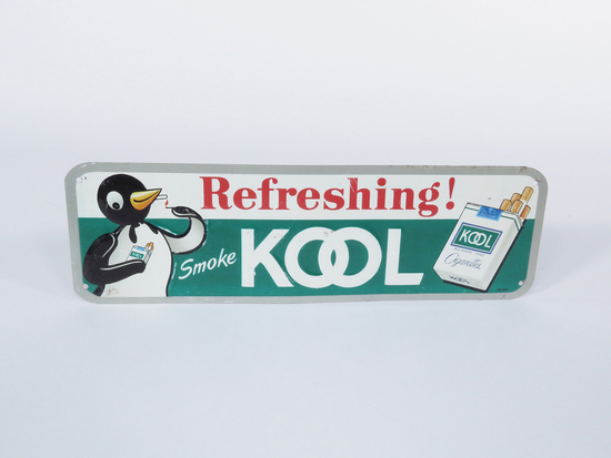 EARLY 1960S KOOL CIGARETTES EMBOSSED TIN SIGN