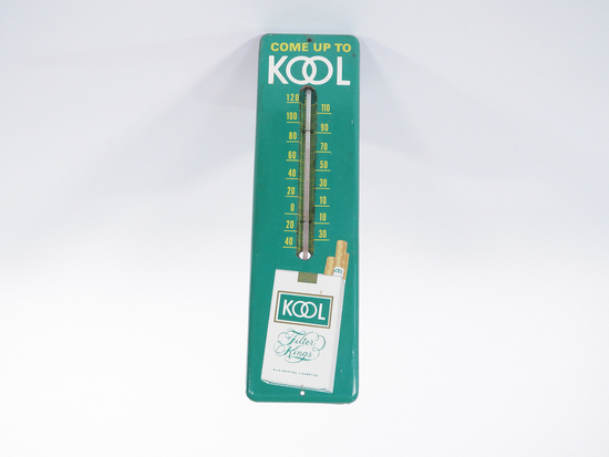 1960S KOOL FILTER KINGS CIGARETTES TIN THERMOMETER