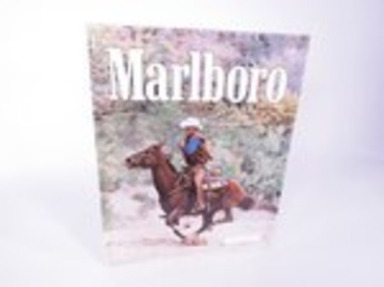MARLBORO CIGARETTES EMBOSSED TIN SIGN