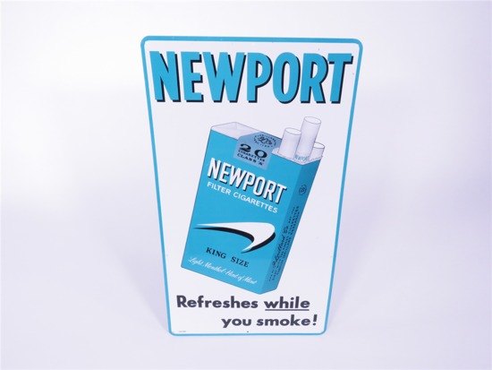 1960S NEWPORT CIGARETTES TIN SIGN