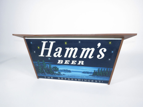 LATE 1950S-EARLY 60S HAMMS BEER LIGHT-UP TAVERN SIGN