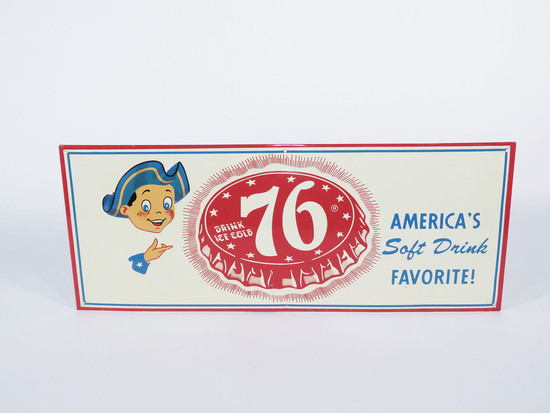 1950S 76 SODA EMBOSSED TIN SIGN