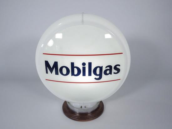 LATE 1940S MOBIL OIL MOBILGAS GAS PUMP GLOBE