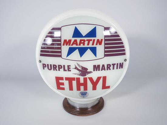 PURPLE MARTIN ETHYL GASOLINE GAS PUMP GLOBE
