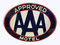 1960S AAA APPROVED MOTEL DOUBLE-SIDED PORCELAIN SIGN