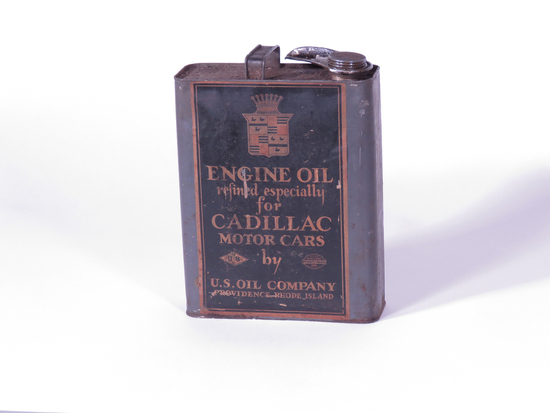 1920S CADILLAC ENGINE OIL PAPER-LABELED CAN