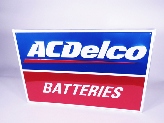 AC DELCO BATTERIES TIN AUTOMOTIVE GARAGE SIGN