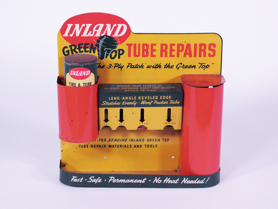CIRCA 1940S-50S INLAND TUBE REPAIRS COUNTERTOP DISPLAY PIECE
