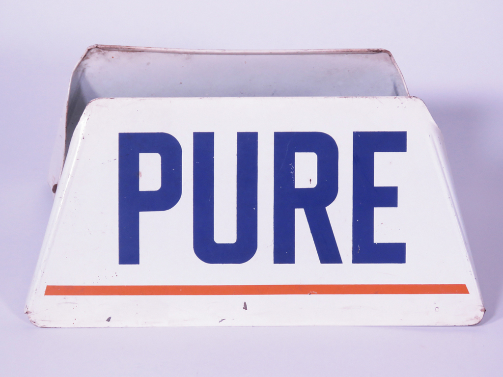 LATE 1950S-EARLY 60S PURE OIL METAL TIRE DISPLAY STAND