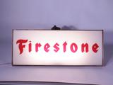 VINTAGE 1960S FIRESTONE TIRES LIGHT-UP SIGN