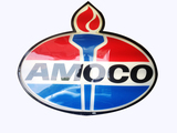 AMOCO OIL TORCH LOGO LIGHTED SIGN