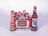 EARLY 1960S PABST BLUE RIBBON THREE-DIMENSIONAL BAR BACK DISPLAY PIECE