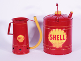 LOT OF TWO CIRCA 1930S-50S SHELL OIL MULTI-FLUID TINS