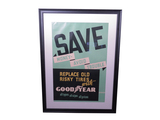 1930S SAVE WITH GOODYEAR TIRES SALES POSTER