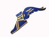 LARGE THREE-DIMENSIONAL GOODYEAR WINGED-FOOT LOGO SIGN