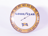 1940S-50S GOODYEAR TIRES GLASS-FACED DIAL THERMOMETER