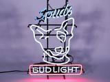 1986 BUD LIGHT NEON SIGN FEATURING SPUDS MCKENZIE