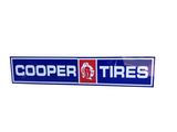 LARGE COOPER TIRES TWO-PIECE TIN SIGN