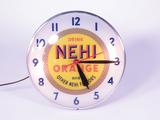 LATE 1940S-EARLY 50S NEHI ORANGE SODA LIGHT-UP CLOCK