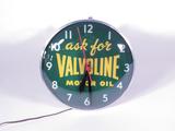 1950S VALVOLINE MOTOR OIL LIGHT-UP CLOCK