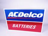 AC DELCO BATTERIES TIN AUTOMOTIVE GARAGE SIGN
