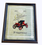 1977 CADILLAC 75TH ANNIVERSARY MIRRORED-GLASS SIGN