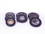 LOT OF EIGHT 1930S-50S TIRE-SHAPED PROMOTIONAL ASHTRAYS