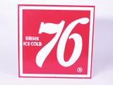 LATE 1950S 76 SODA TIN SIGN