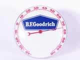 1950S BFGOODRICH GLASS-FACED DIAL THERMOMETER