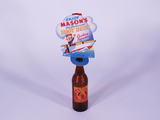 1930S-40S MASONS ROOT BEER CARDBOARD BOTTLE TOPPER WITH BOTTLE