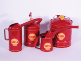 LOT OF FOUR CIRCA 1930S-50S SHELL OIL MULTI-FLUID TINS