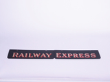 1930S RAILWAY EXPRESS DEPOT SIGN