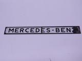 CIRCA 1950S MERCEDES-BENZ TIN DEALERSHIP SIGN