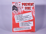 CIRCA 1950S THOROUGHBRED RACING PROTECTIVE BUREAU PREVENT FIRE SIGN
